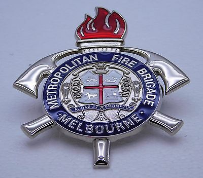 Metropolitan Fire Brigade Melbourne replica badge Not Police Emergency Medical