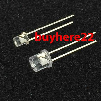 3mm 5mm Flat Top LED LEDs RED GREEN BLUE WHITE YELLOW Superbright NEW UK SELLER