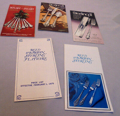 Wallace Sterling Flatware & Reed & Barton Sterling, Publication & Prices 1975-76