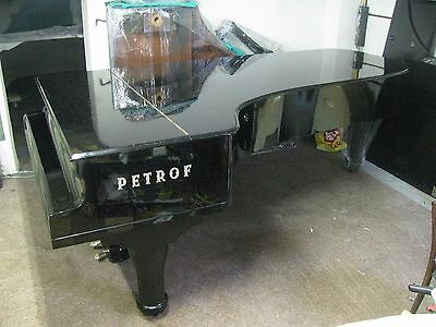 Rare Petrof Concert  grand piano and matching  Steinway  adjustable  bench.