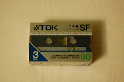 Unopened Pack of 3 C90 Blank TDK Audio Cassettes