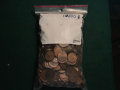 Lot of 10000 Japanese Yen Foreign Exchange 1000 of the 10 Yen Copper Coins