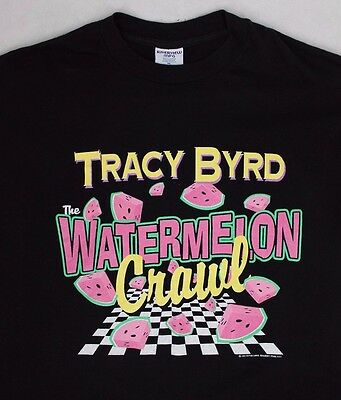 "Vintage 1994 Tracy Byrd ""Watermelon Crawl"" Country T Shirt Size XL 90s"