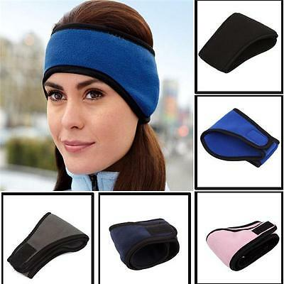 Ear Warmer Winter Head Band Fleece Ski Ear Muff Unisex Stretch Spandex Hat J