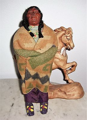 """15"""" Skookum Native American Indian Doll. Very Old Man Face. Maybe Grandpa Chief?"""