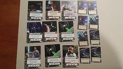 X Wing Miniature Game Promo Pilot and Upgrade Cards Wedge Antilles