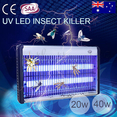 Electric 20W 40W Insect Killer Mosquito Pest Fly Bug Zapper Catcher Trap UV-A AU