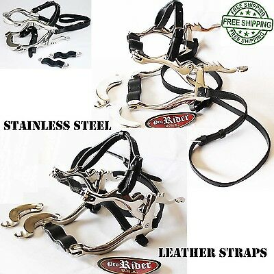 Veterinary Equine Dental Speculum Horse Mouth Gag Stainless Steel Leather 98470L