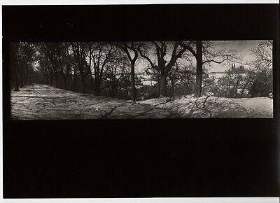 1956/80 Original JOSEF SUDEK Silver Gelatin Photo Winter Snow PANORAMA LANDSCAPE