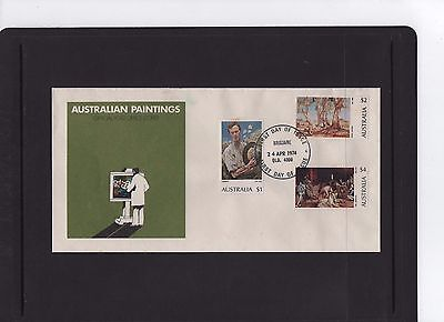 1974 Australian Paintings $1-$2- $4 First Day Cover Brisbane QLD Cancel