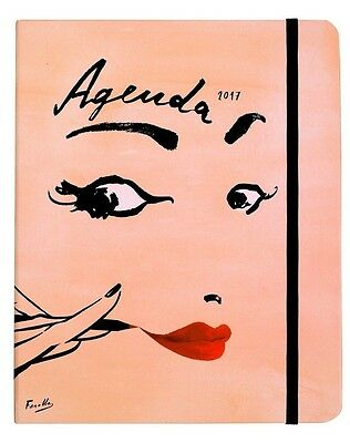 100% Authentic & NEW Kate Spade LARGE Read My Lips 2017 Spiral Agenda Planner