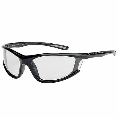 Northwave Predator Cycling / Bike Sunglasses - Black Frame / Clear Lenses