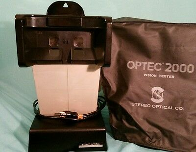 Optic 2000 Vision Tester pulled from professional environment 3 SETS of SLIDES