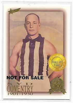 1996 Select Hall of Fame Promotional Card (30) Syd COVENTRY Collingwood