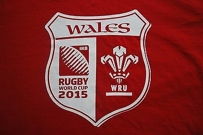 Wales Rugby World Cup Collection 2015 Shirt Wru Preowned Sz L