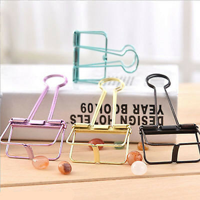 Multicolour Metal Hollow Out Binder Clips Book Paper Organized Clips Office File