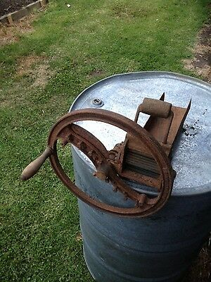 """Vintage early 1900s Cast Iron Chaff Cutter,""""Neurrisseur Japy"""" France"""