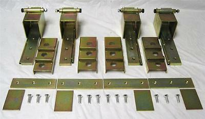 2 Door Adjustable Heavy Duty Suicide Hidden Door Hinge Kit ZINC Rat Rod Hot Rod