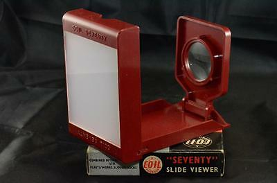 NEW Coil Seventy Hand Film Slide Viewer for 2 1/4 x 2 1/4 with Box