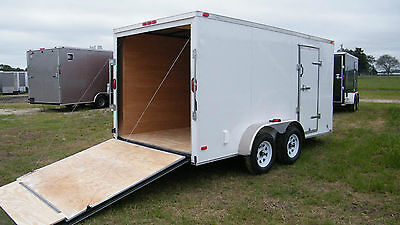 New 6x12 Enclosed Cargo Trailer Tandem Motorcycle Utility14 Landscape CALL NOW !