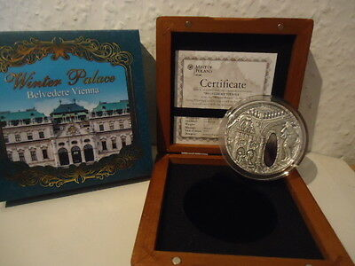 2 Dollar Niue Islands 2015 - Winterpalace Belvedere 2 OZ Silver - only 500