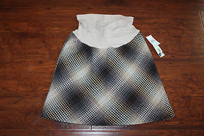 Sz M A Pea In The Pod Maternity Pregnancy Winter Skirt Plaid NWT