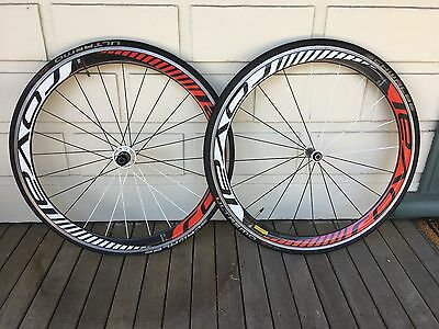 Roval Rapide 45 alloy/carbon 700cc wheelset (10 speed)