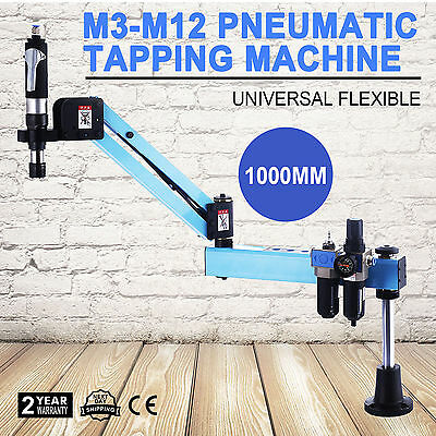 Pneumatic Air Tapping Drilling Machine M3-M12 Vertical Type 1000mm Flexible Arm