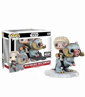 Star Wars FUNKO POP Hoth Han Solo on Tauntaun DELUXE SMUGGLERs BOUNTY EXCLUSIVEs