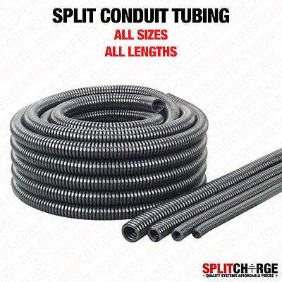 Black Nylon Spiral Conduit Split Tube Tubing Cable Tidy Trunking Loom