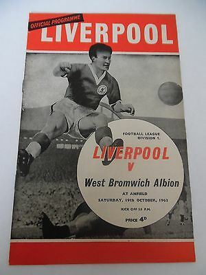 Liverpool v West Bromwich Albion League Division 1 October 1963