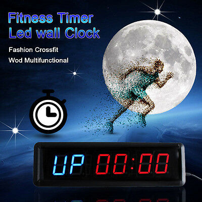 13.5inch Gym Sports Entrenamiento Cronómetro Fitness Timer Led Wall Clock Mute