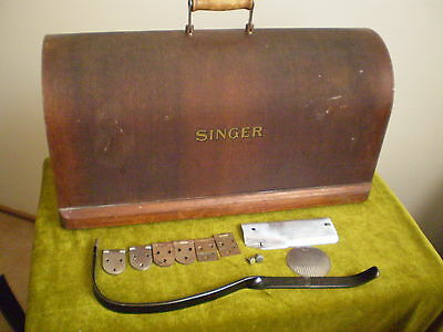 Singer Sewing Machine Lid And Parts.