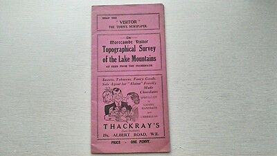 THE MORECAMBE VISITOR TOPOGRAPHICAL SURVEY OF THE LAKE DISTRICT MOUNTAINS c1950