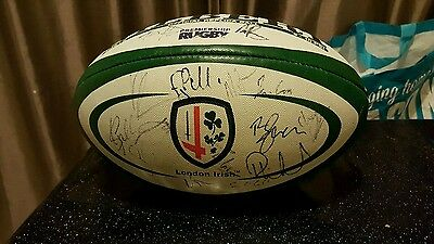 London Irish signed rugby ball (2013/14 squad)