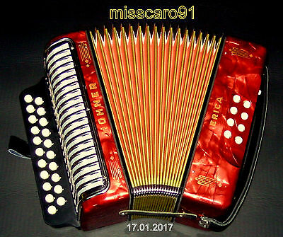 Germany Hohner  Erica  Button  Accordion New Cover ! New Board ! New  Bassstraps