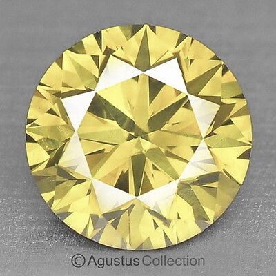 0.06 cts Round Natural loose Light Yellow Diamond 2.42 mm VS2 Clarity Brilliant
