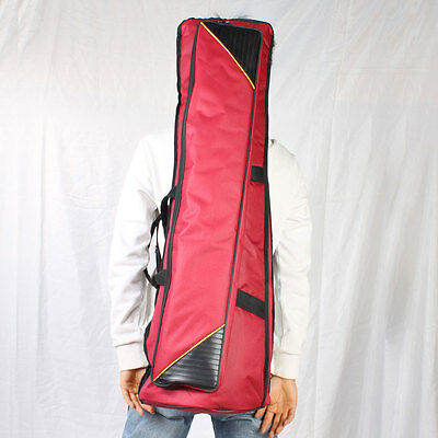 New Tenor Trombone Soft Gig Bag Case Double Aglet Design Purplish Red