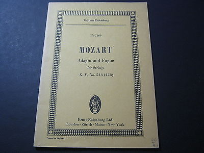 Noten: Mozart, Adagio and Fugue for Strings