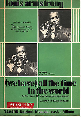 Spartito - LOUIS ARMSTRONG - (We have) all the time in the world - 1972