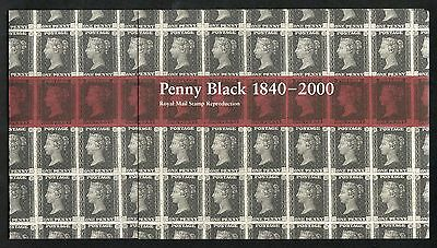 Royal Mail 2000 Penny Black Souvenir Pack - With Block of 4 Penny Blacks