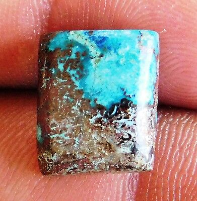 8.75Cts Lovely Exquisite 100% Natural  Azurite 13X12X5 mm Cabochon Gemstone
