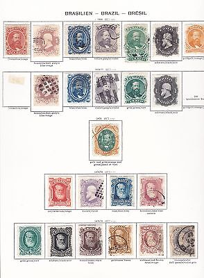 BRESIL 136 timbres differents entre n° 23/148 - cote + 1000€