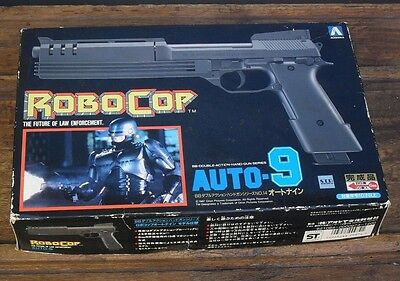 vintage robocop (working) BB hand gun toy by  Aoshima 1987 in original box