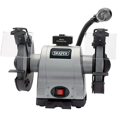 Bench Grinder 8 Inch With Light Heavy Duty Draper 05097