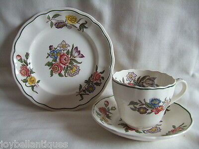 Copeland Spode Trio. Floral. Spring Time Pattern. Cup, Saucer, Plate