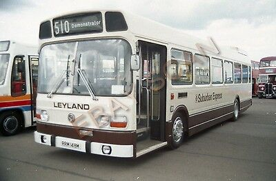 Bus colour NEGATIVE -Leyland National demonstrator RRM148M