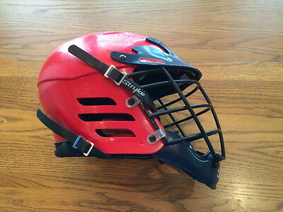 Stryke Pro Z Lacrosse Helmet,adult Small,red&black,used Very Good Condition