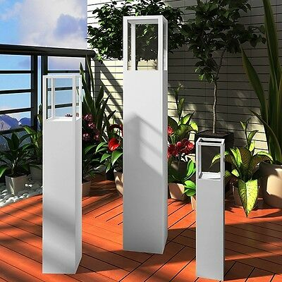 New 3pc Garden Candle Stand Wooden Holder Wedding Lighting Outdoor Torch White