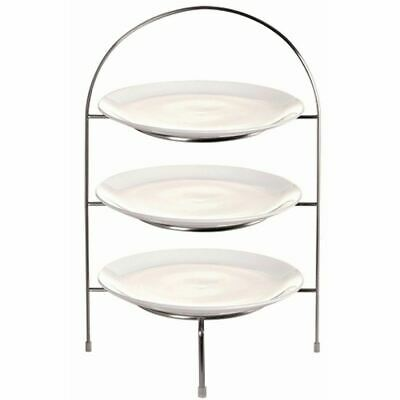 Afternoon Tea Stand for Plates Made of Chrome 380(H) x 240(W) x 205(D)mm